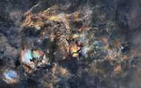 18-panels mosaic of Cygnus Nebulae