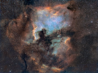NGC 7000 and Pelican Nebula