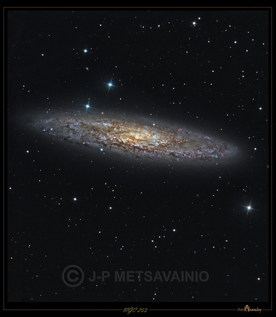 "NGC253, the ""Silver Dollar Galaxy"""