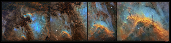 Pelican Nebula, the scale in a sky