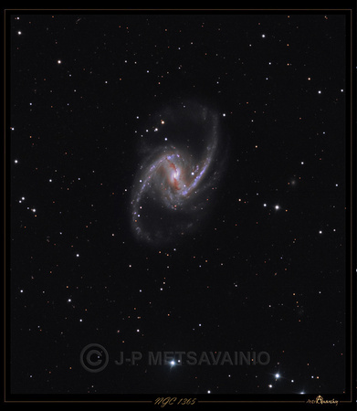 "NGC 1365, the ""Great Barred Spiral Galaxy"""
