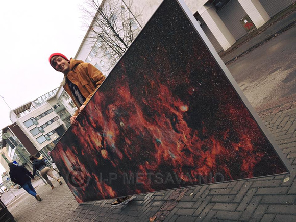1x4m canvas print out of Cygnus.